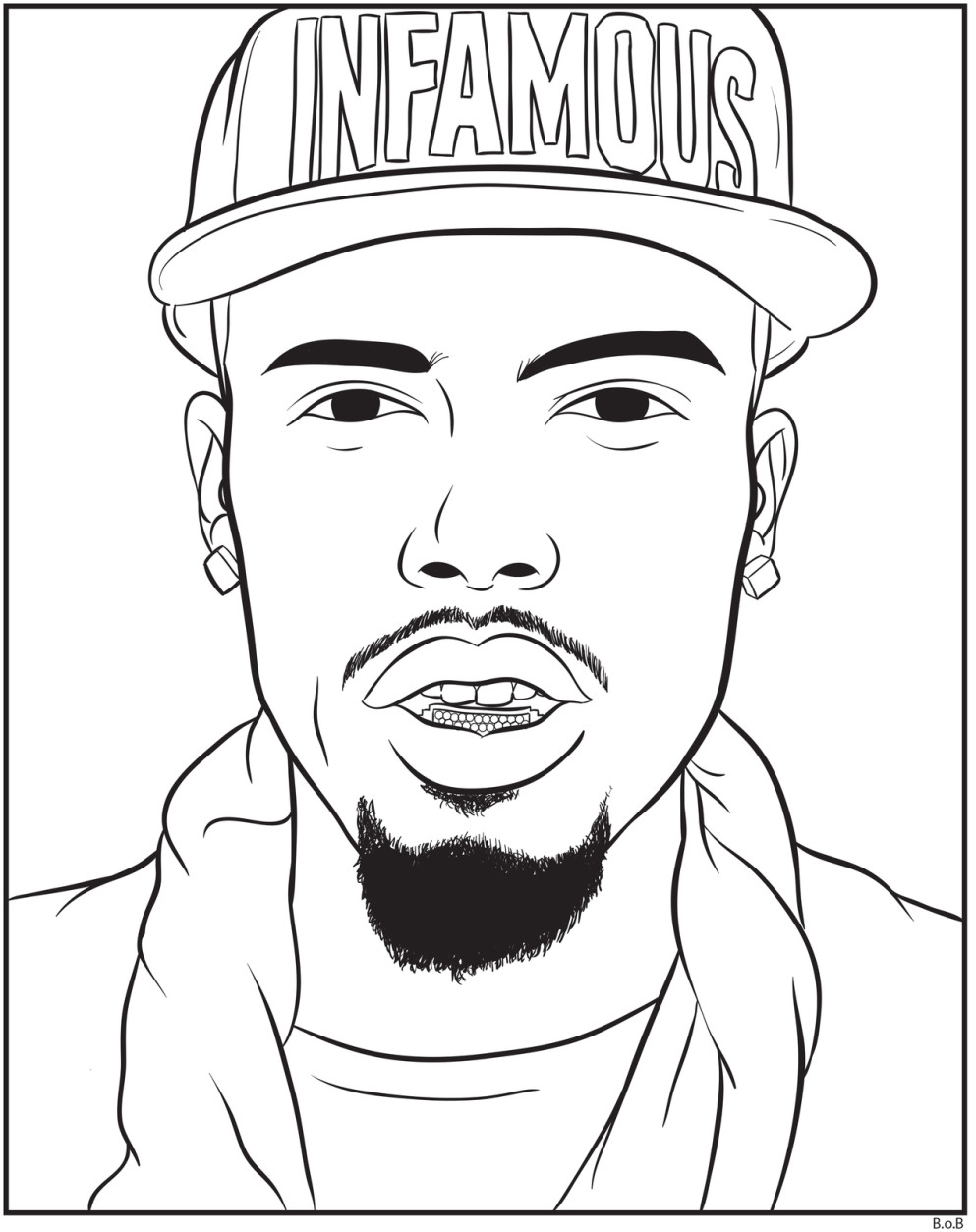 rap star coloring pages - photo #16