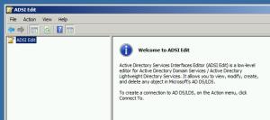 02.ADSI Edit main window