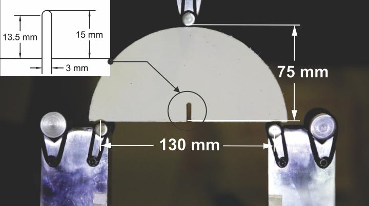 Semi-Circular Bending Test on Fiber Reinforced High-Strength Concrete