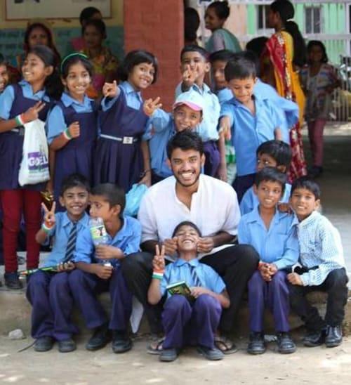 Tarang with students