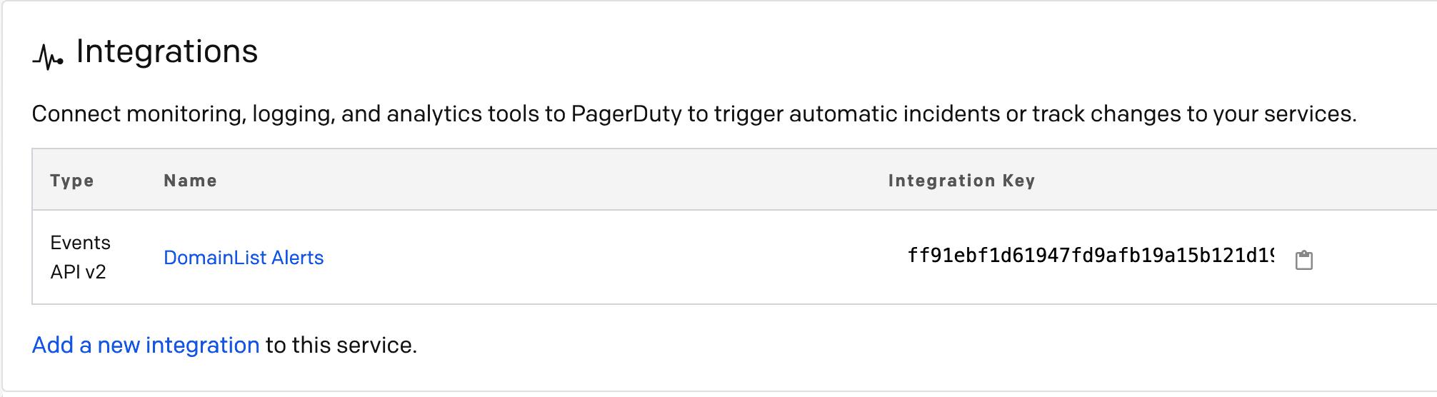 Add an Integration