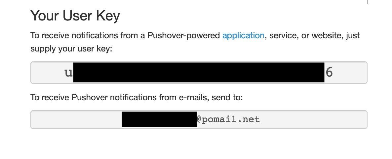 PushOver User Key Identification