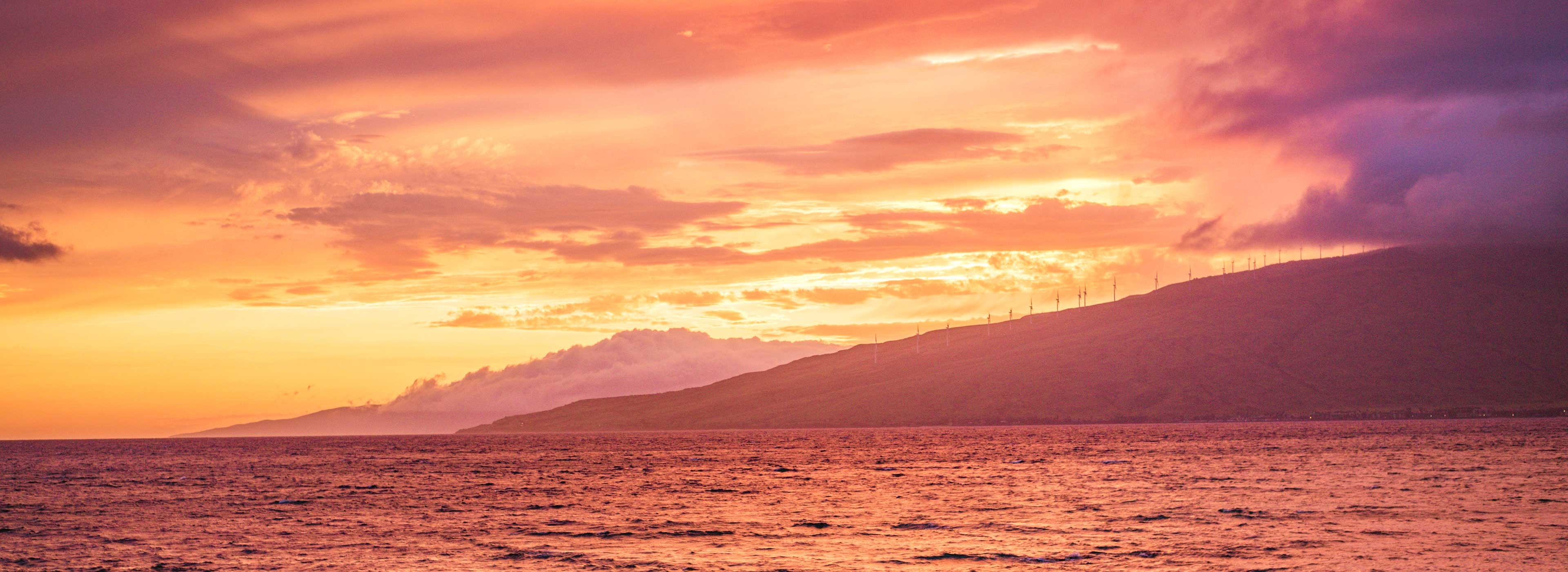 south side sunset in maui
