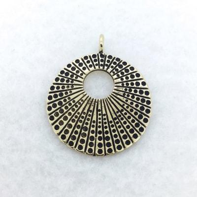 art deco bronze pendant
