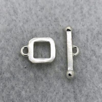 sterling silver square toggle
