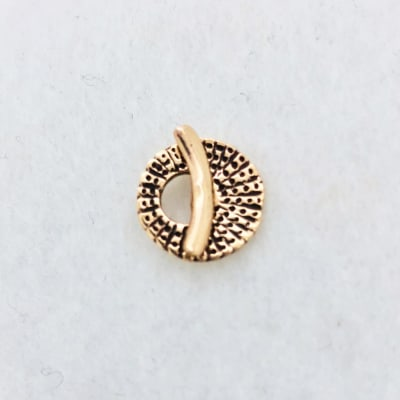 tiny seashell bronze toggle