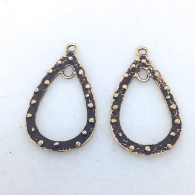 EF2 bronze teardrop earring finding