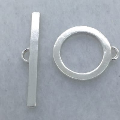 ST27 17mm sterling silver toggle