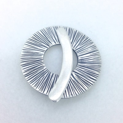 ST59 sterling silver double strand 37mm