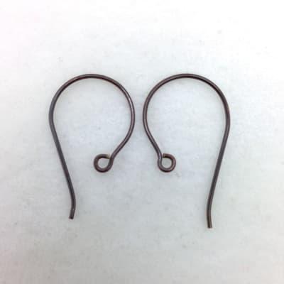 SE43 blackened bronze earwire, 10pr