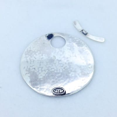 MC1 sterling silver and bronze toggle pendant 50mm