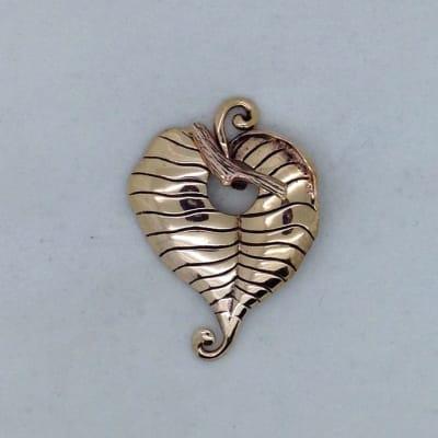 STB132 bronze leaf toggle pendant