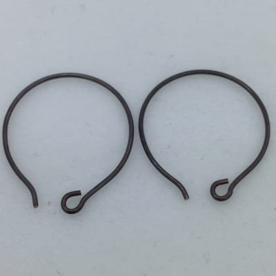SE29 blackened bronze earwires, 10 pr