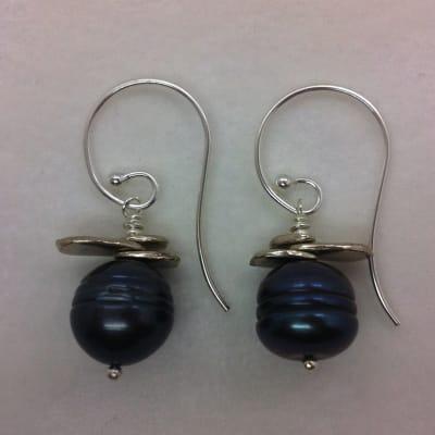 SE35 sterling silver earwires, 5 pr