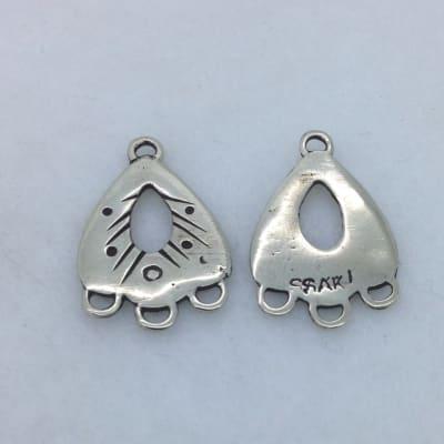 EFW8 white earring findings