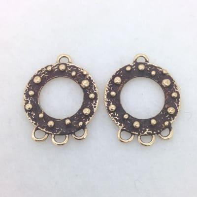 EF4 bronze earring finding
