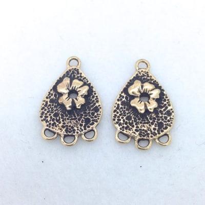 EF6 bronze earring findings