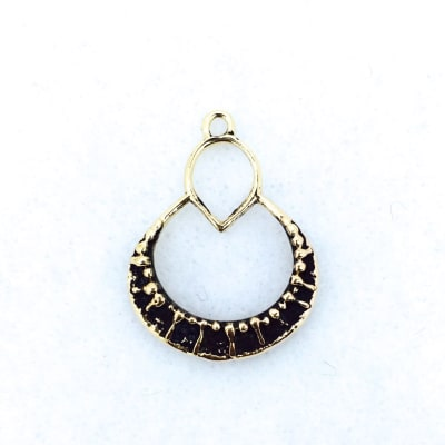 BP37 bronze pendant/earring finding