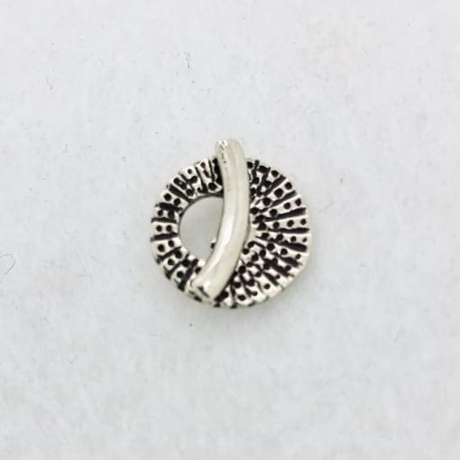 tiny seashell white bronze toggle