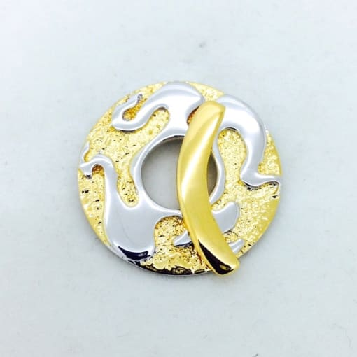 ST84 gold/rhodium plated toggle