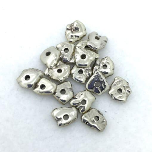 SB41 White Bronze Beads, 10g