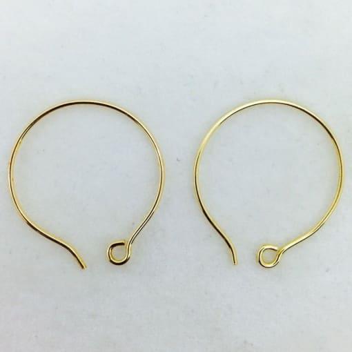 round bronze earwires, 10 pr