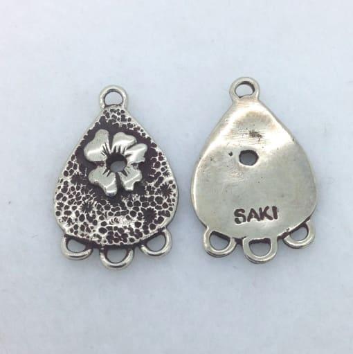 EFW6 white bronze earring findings