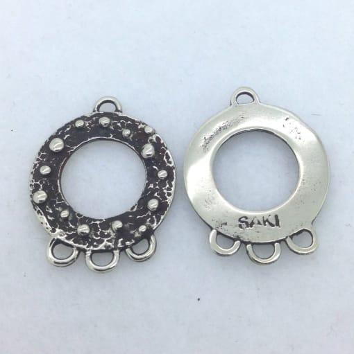 EFW4 white bronze earring finding