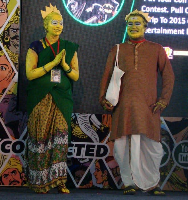 Bangalore_Comic-Con_2014_Indian_Bart_Lisa_Simpson