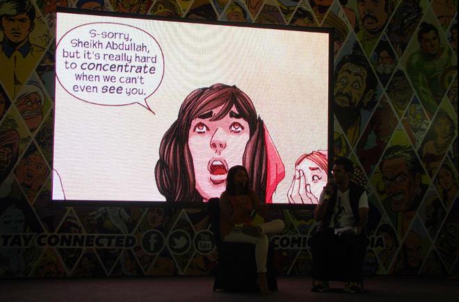Bangalore_Comic-Con_2014_Sana_Amanat