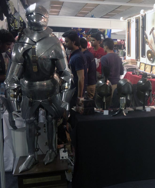 Bangalore_Comic-Con_Stall_Armour