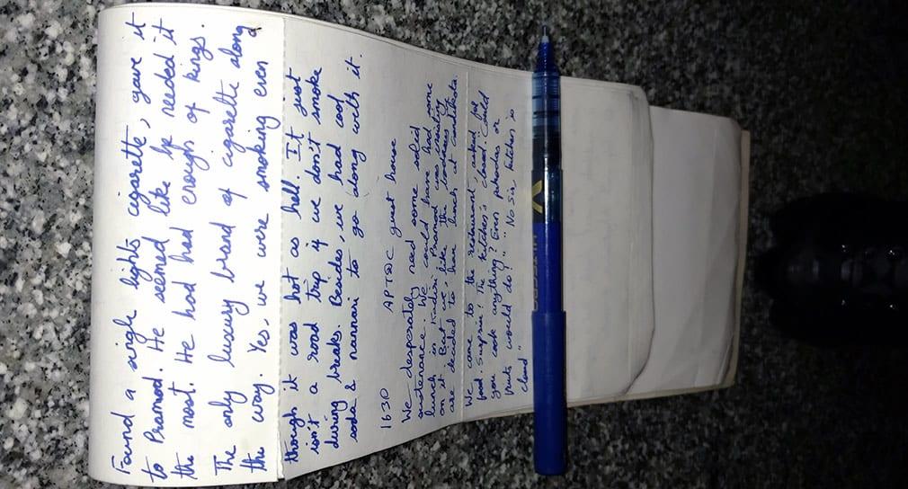 Bala_Writing_Down_the_Travelogue