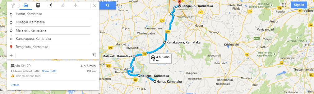 Hanur-to-Bangalore