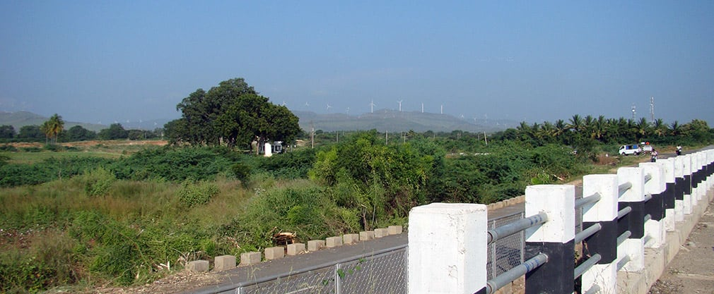 NH4_Side_Scenery_Windmills_Tumakaru