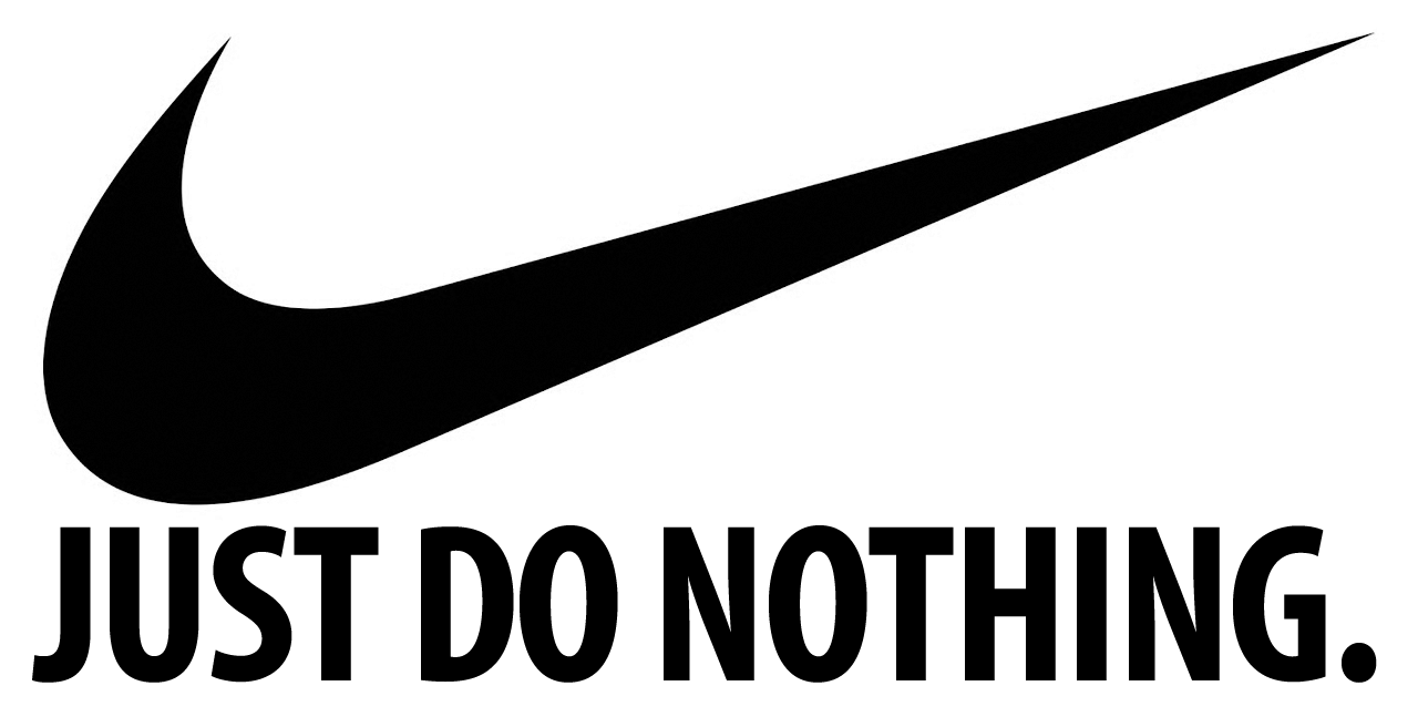 Nike tick mark logo with Just Do Nothing text