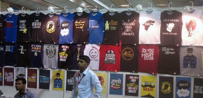 Bangalore_Comic-Con_2014_Stall_T-shirts