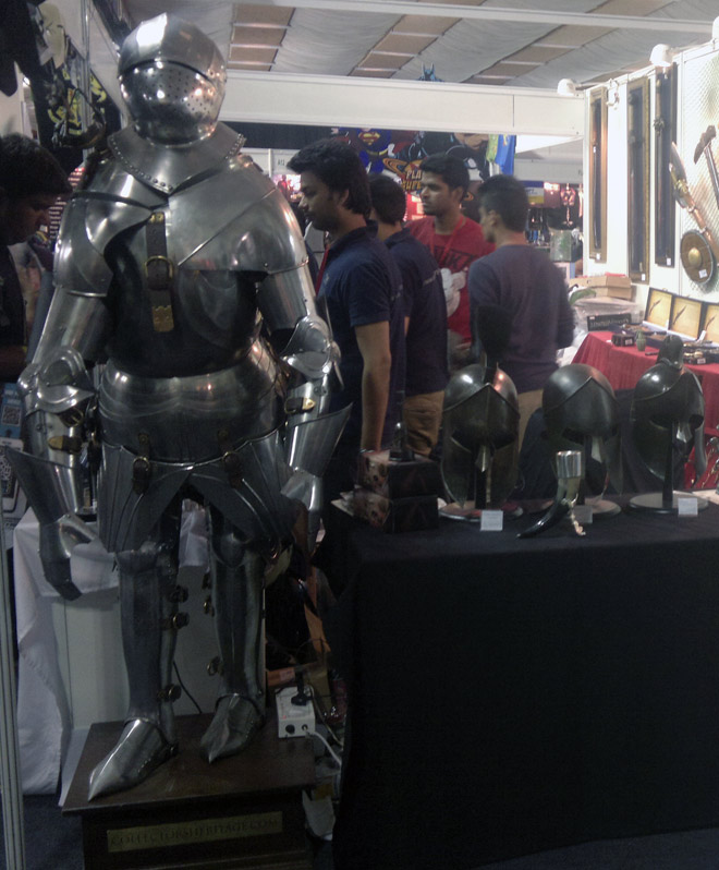 Bangalore_Comic-Con_Stall_Armour