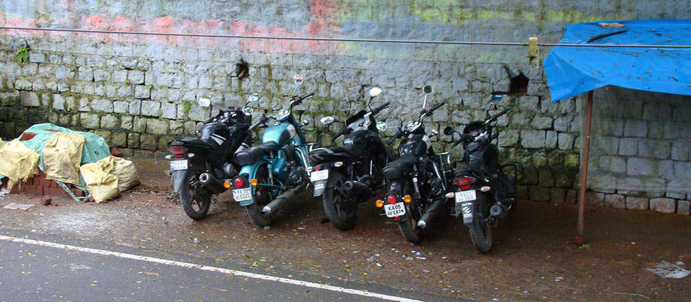 Valparai_Hotel_Treat_Morning_Bike_Parking