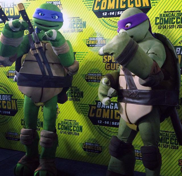 Leonardo and Donatello from TMNT