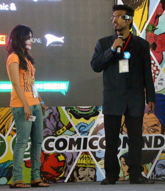 Bangalore_Comic-Con_2014_Lady_Joker_Tony_Stark
