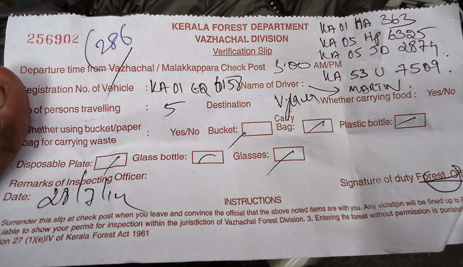 Athirappilly_to_Valparai_Checkpost_Verification_Slip