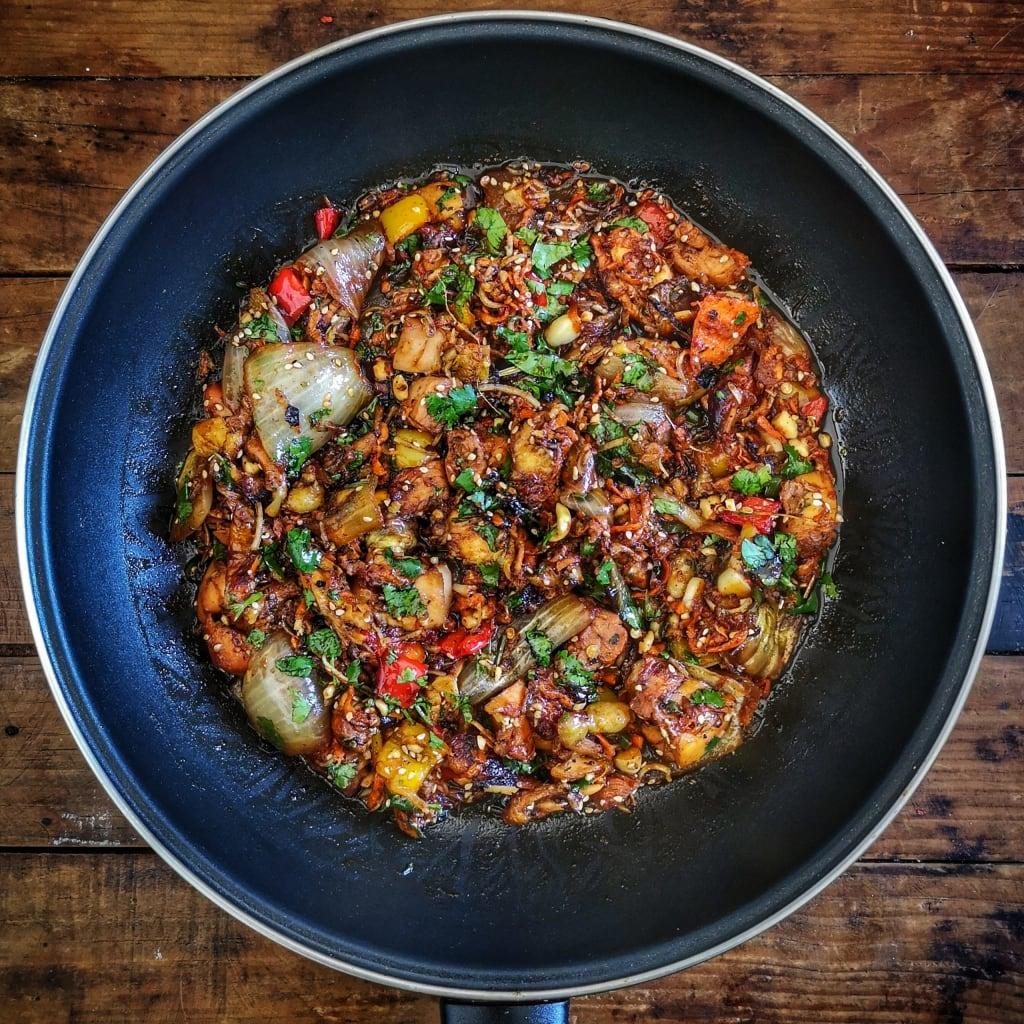 Chicken Teriyaki in a pan