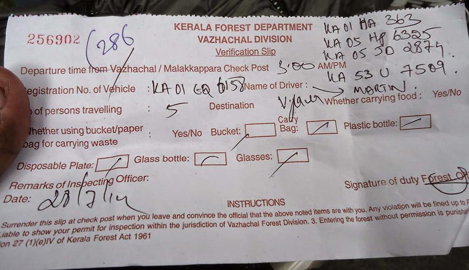 Athirappilly_to_Valparai_Checkpost_Verification_Slip