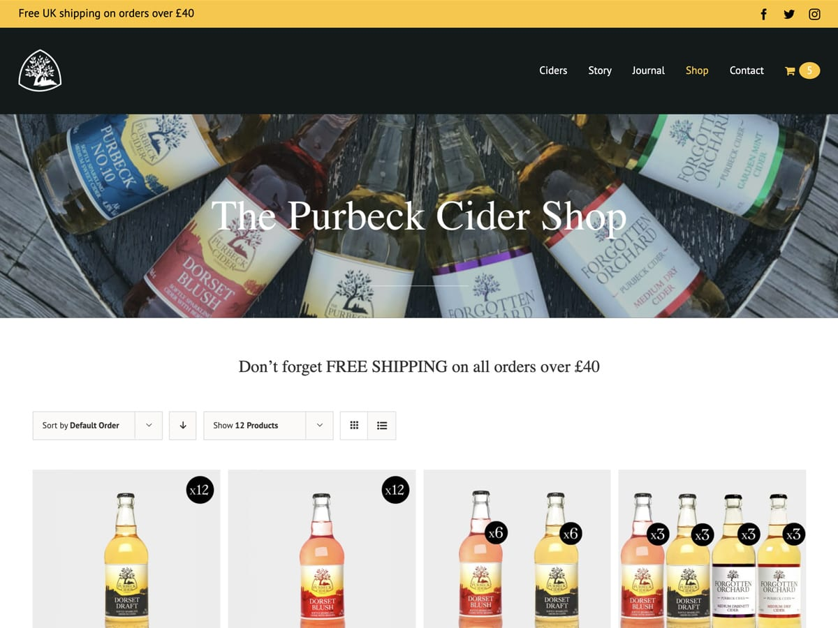 Purbeck Cider - shop