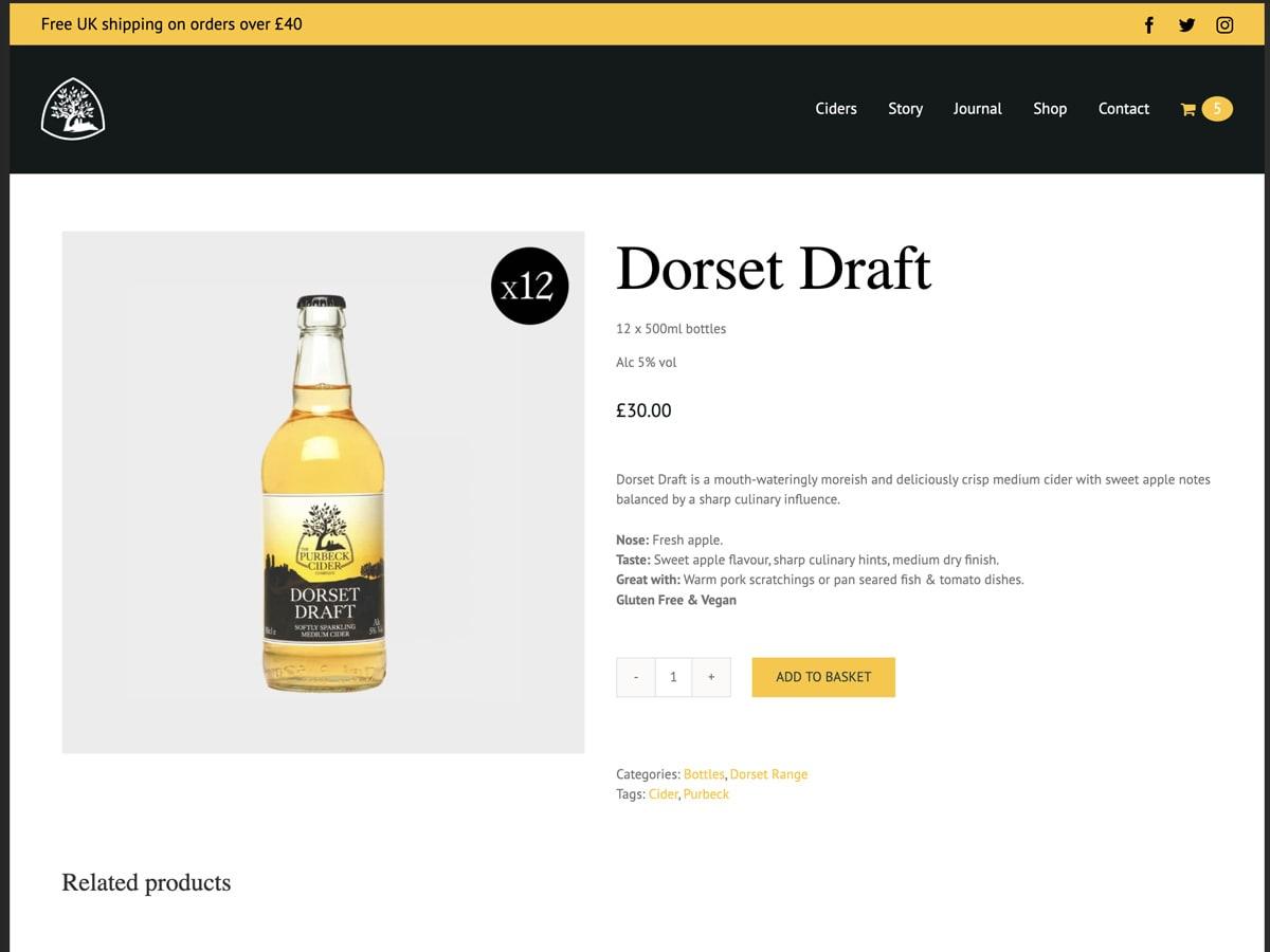 Purbeck Cider - dorset draft