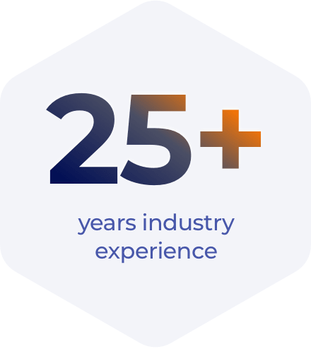 25+ years industry experience