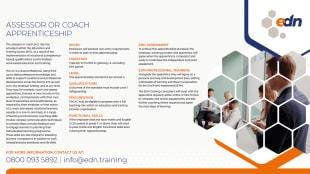 Assessor Coach Apprenticeship fact sheet