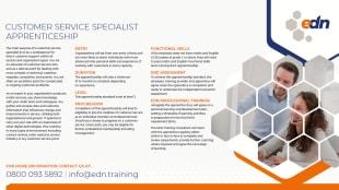 Customer Service Specialist Apprenticeship fact sheet