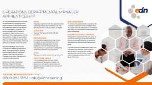 Operations or Department Manager fact sheet