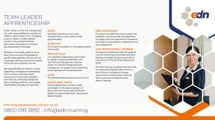 Team Leader Apprenticeship fact sheet